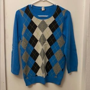 Jcrew Argyle Sweater